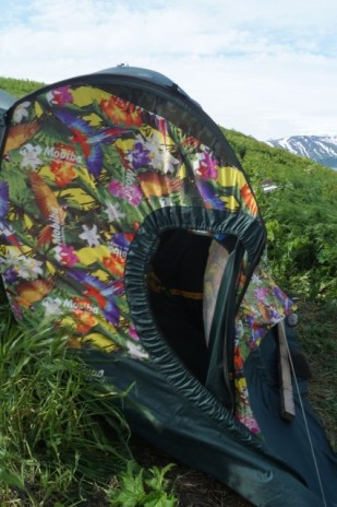 Mobile banya - our first and only shower afer three days!