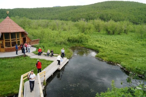 Natural thermal spring