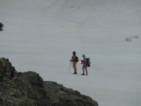 Russian hikers in a bikini!