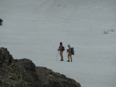 Russian hikers in a bikini!