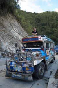 Me riding on the roof of a jeepney!!!