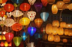 Colorful lanterns and lamps everywhere!