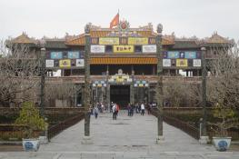 The imperial city of Hué...